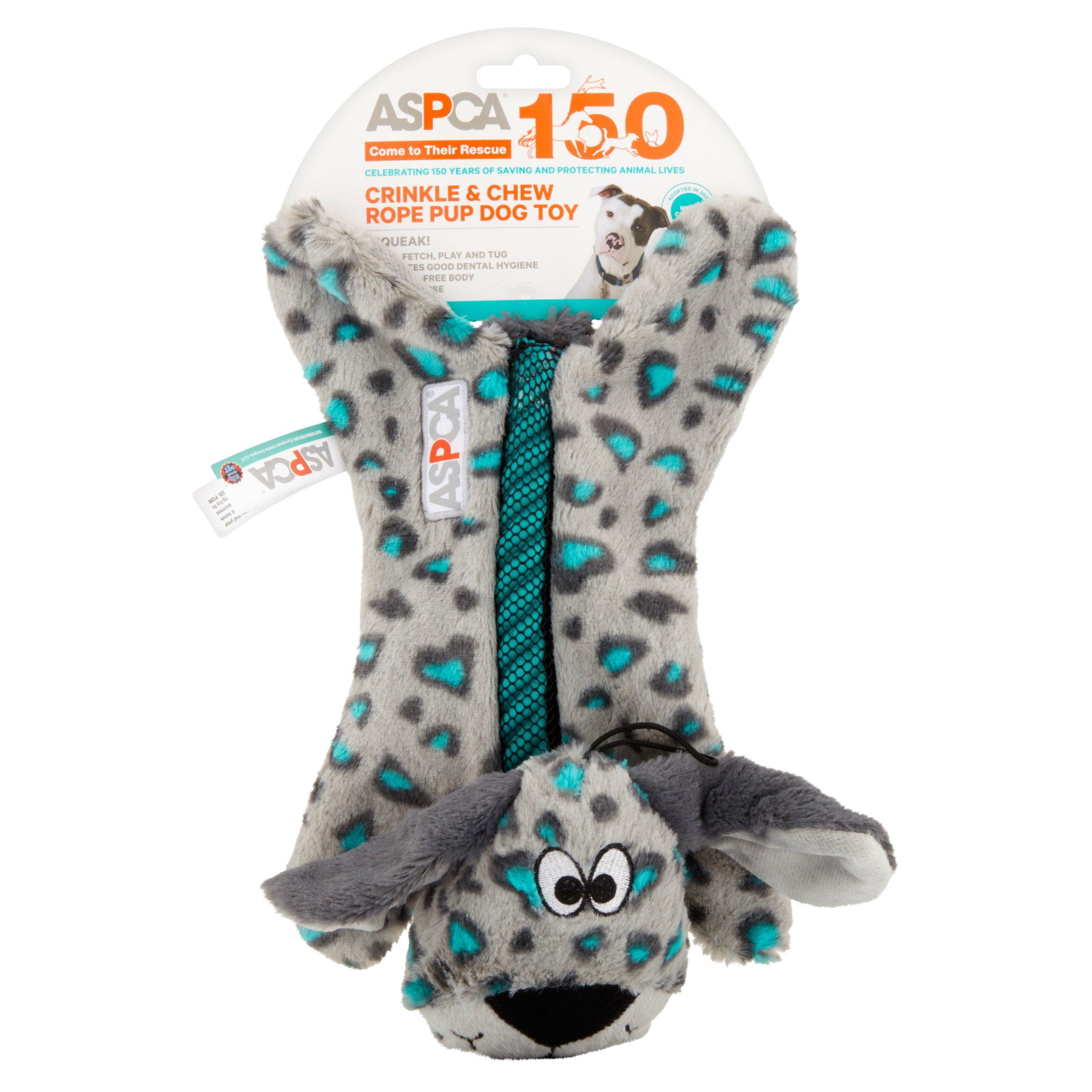 ASPCA Blue Crinkle & Chew Rope Pup Dog Toy by European Home Designs, LLC