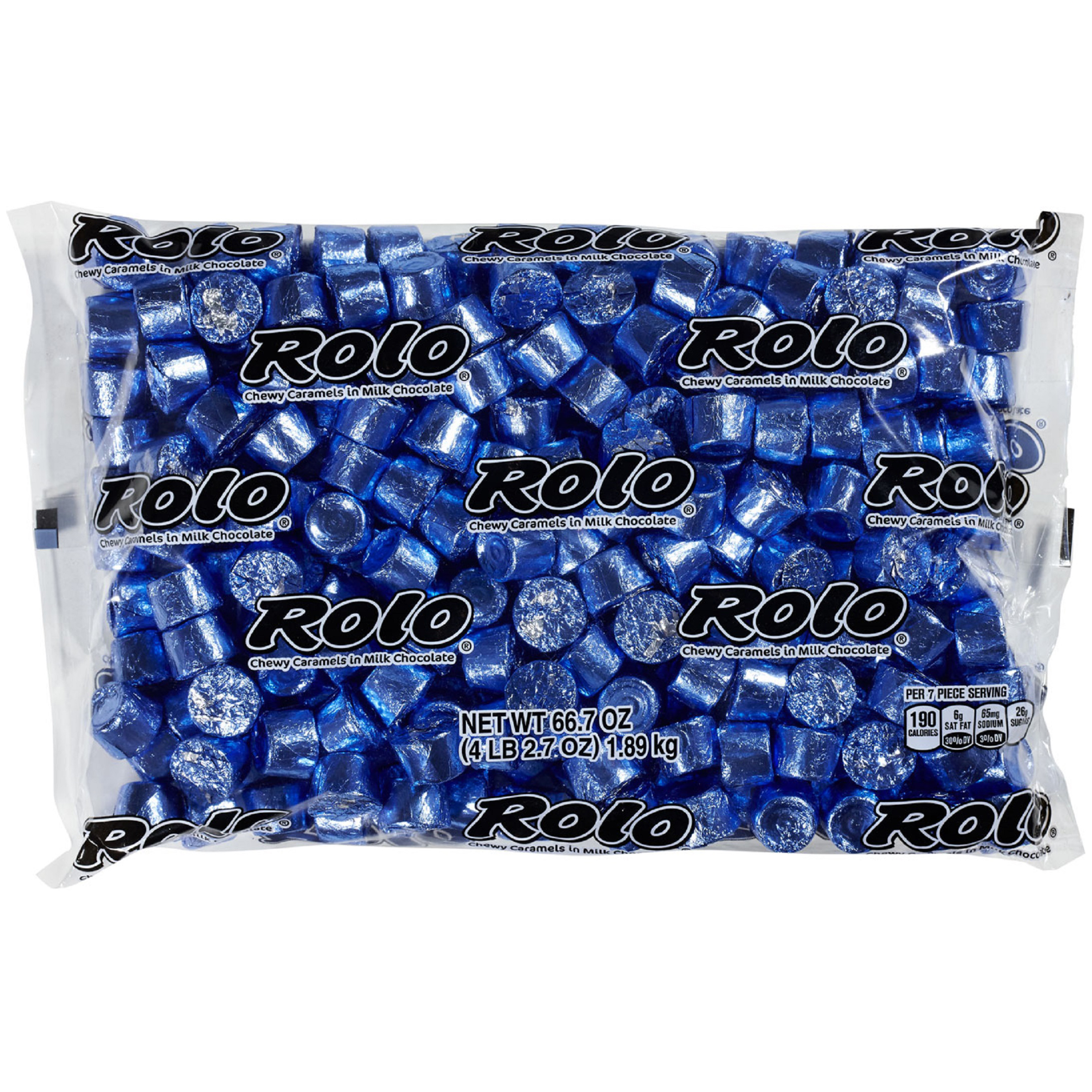 ROLO Chewy Caramels in Milk Chocolate, Blue, 66.7 Ounces