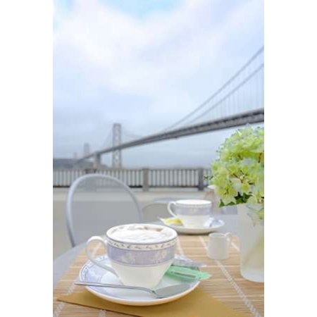 Dream Cache - Dream Cafe Bay Bridge - 2 Poster Print by Alan Blaustein