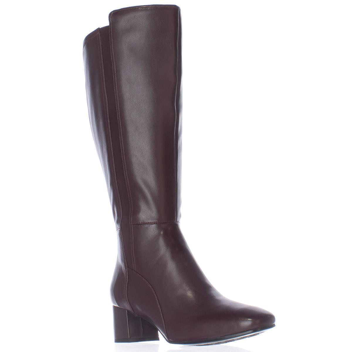 Womens naturalizer Naples Wide Calf Knee High Boots, Cherry