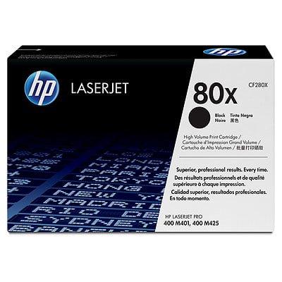 HP 80X High Yield Black Original LaserJet Toner Cartridge ()