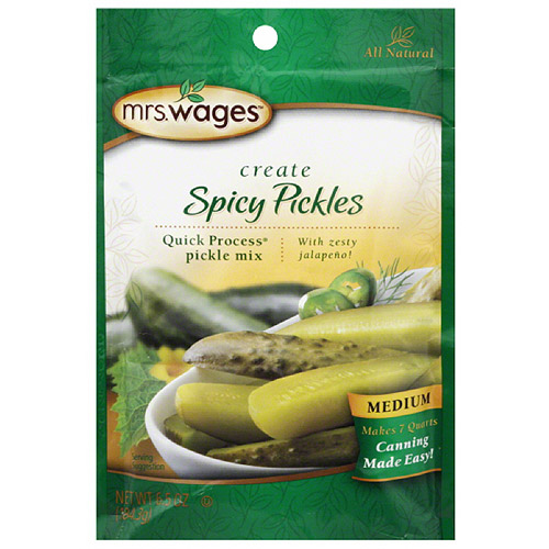 Mrs. Wages Create Spicy Pickles Mix, 6.5 oz, (Pack of 12)