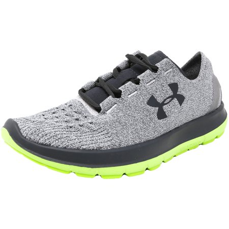 Under Armour Men's Speedform Slingride Glacier Gray / Hyper Green Stealth Ankle-High Running Shoe -