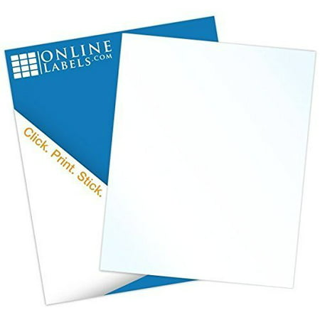 (Online Labels - Clear Gloss Sticker Paper - 100 Sheets - 8.5