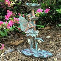 "Homestyles 10""H Isabella Fairy in Bronze Patina Home Patio & Garden Statue Figurine"