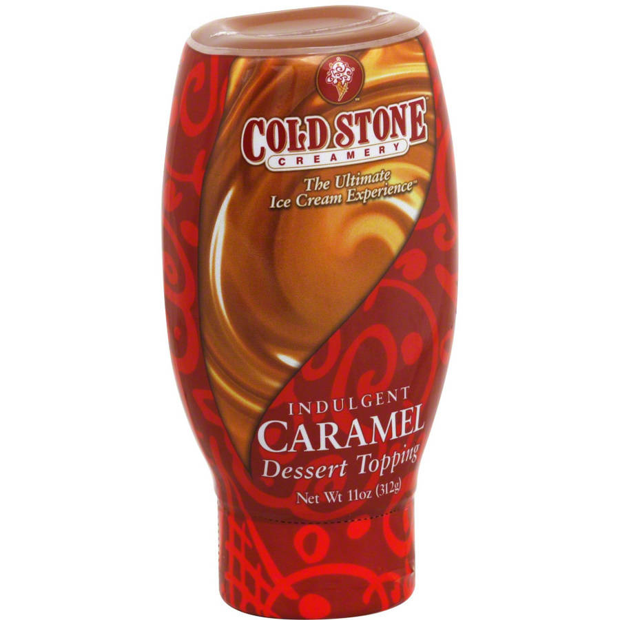Cold Stone Indulgent Caramel Dessert Topping, 11 oz, (Pack of 6)