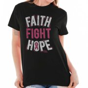 Brisco Brands Fight Faith Hope Pray For Cure Lady Short Sleeve T Shirt
