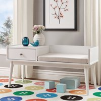 Chelsea Lane Ethan Entryway Bench with Attached Storage End Table, Multiple Bench Colors