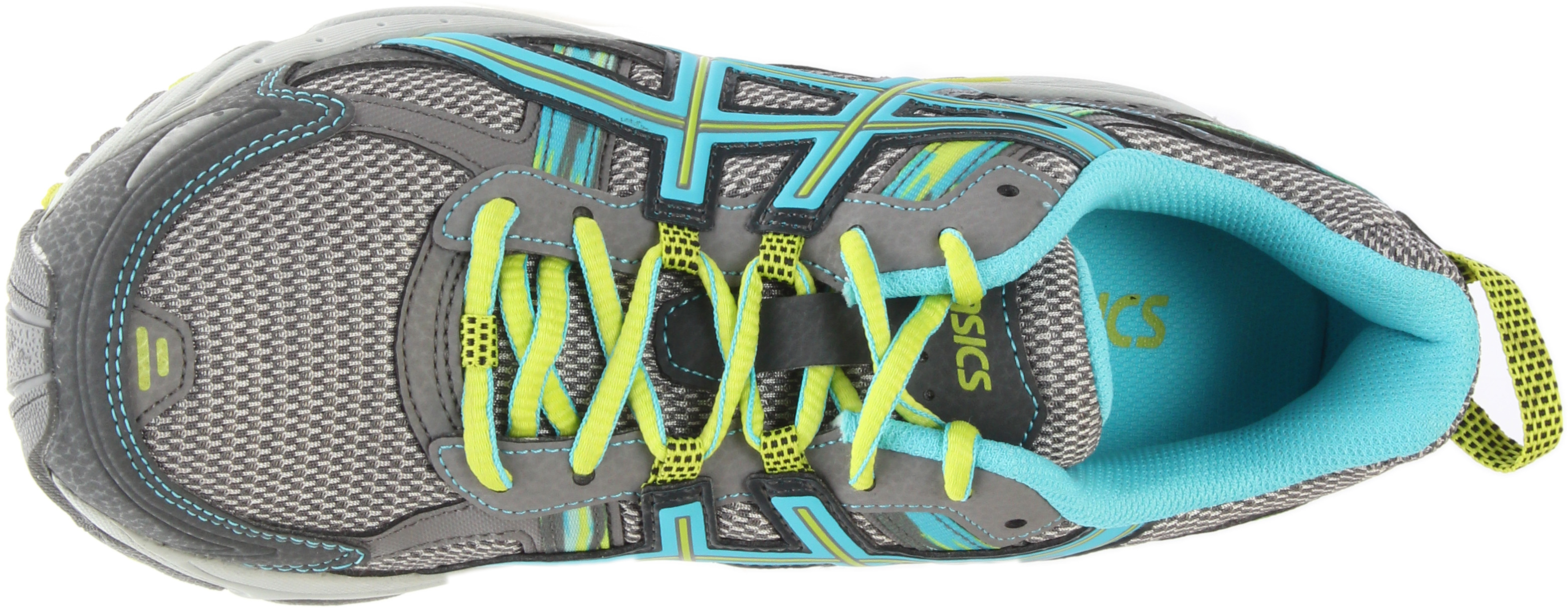 da6a743d3575 Asics - Asics Women s Gel-Venture 5 Silver Grey   Turquoise Lime Punch  Ankle-High Running Shoe - 9W - Walmart.com