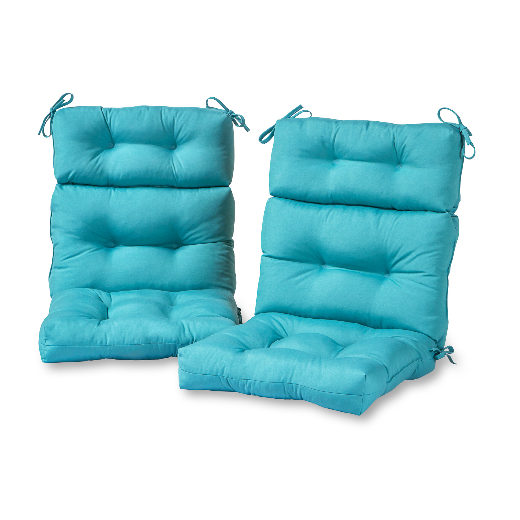 Greendale Home Fashions Solid Outdoor High Back Chair Cushion, Set of 2