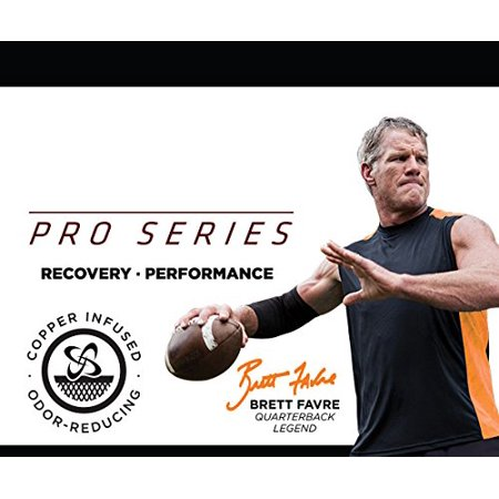 Pro Series Performance Compression Knee Sleeve Support Large by by Copper Fit ()