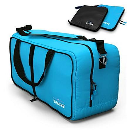 daa1bf556 shacke duffel xl - large travel duffel bag - foldable w/ memory foam  shoulder pad (aqua teal) - Walmart.com