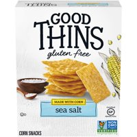 Good Thins Sea Salt Corn & Rice Snacks Gluten Free Crackers, 3.5 oz.