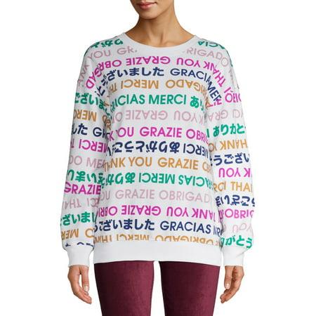 License Juniors' Thank You Boyfriend Sweatshirt