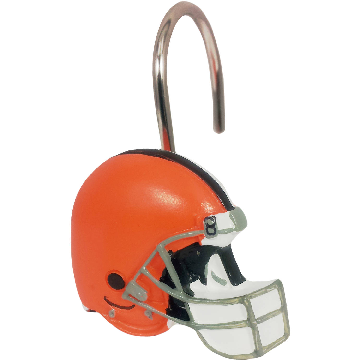 NFL 12-Piece Shower Curtain Ring Set, Browns