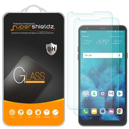 [2-Pack] Supershieldz for LG Stylo 4  Tempered Glass Screen Protector, Anti-Scratch, Anti-Fingerprint, Bubble Free