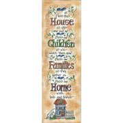 LPG Greetings Life Lines Bless This House by Lori Voskuil-Dutter Textual Art Plaque