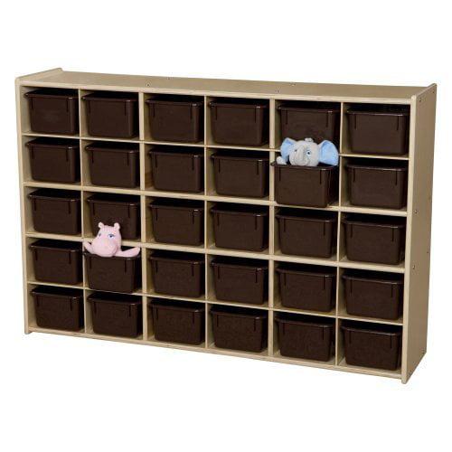 Wood Designs Contender Baltic Birch 30 Cubby Single Storage Unit
