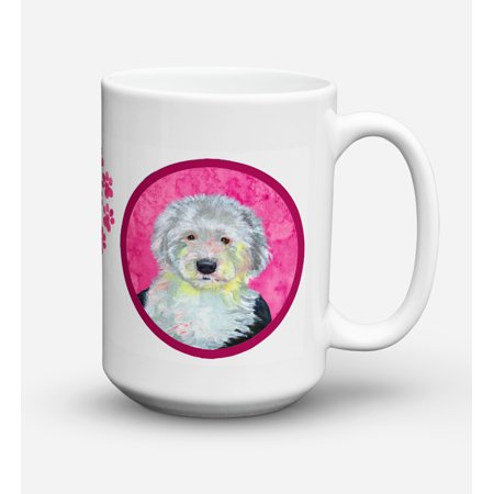 Old English Sheepdog Dishwasher Safe Microwavable Ceramic Coffee Mug 15 ounce