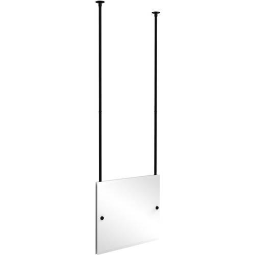 Frameless Rectangular Landscape Ceiling Hung Mirror with Beveled Edge (Build to Order)