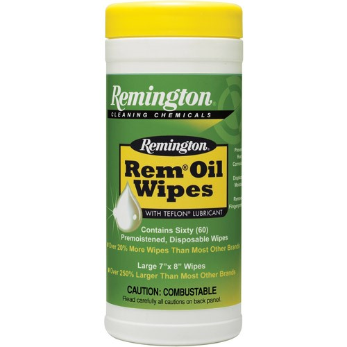 Remington Remington Oil Wipes, Pop up Wipes 7in. x8in. 52613