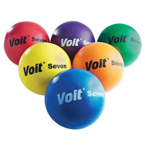 "Voit® 7"" Tuff Balls, Rainbow Set of 6"