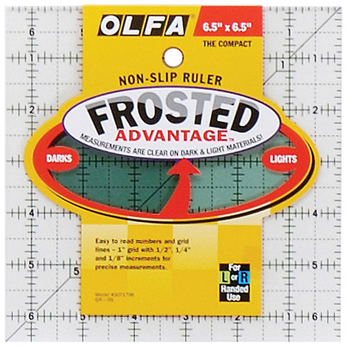 "Olfa Frosted Advantage Non-Slip Ruler, ""The Compact"""