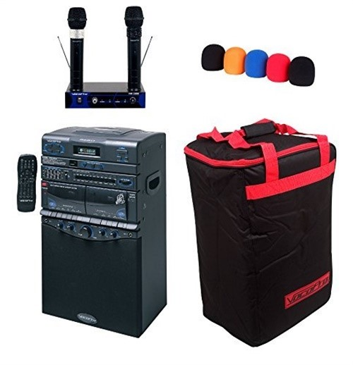 VocoPro DVD-DUET PRO II Karaoke System w  2 Wireless Mics by VocoPro