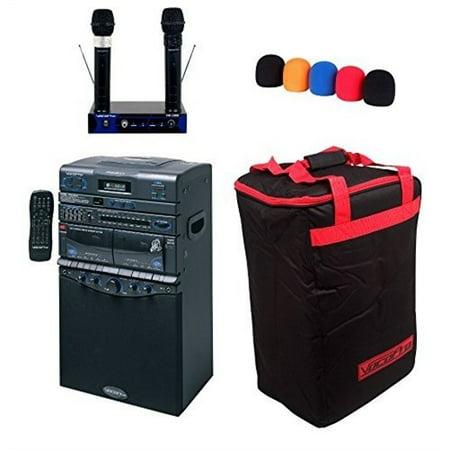 vocopro dvd duet pro ii karaoke system w 2 wireless mics. Black Bedroom Furniture Sets. Home Design Ideas