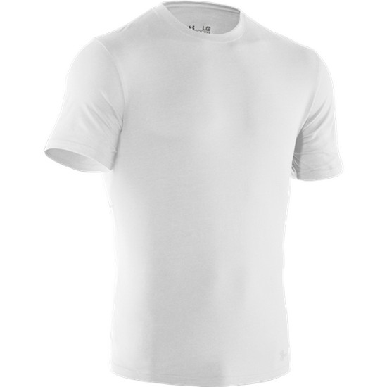 Under Armour 1234237 Men's White Tac Charged Cotton S/S Shirt - Size Medium