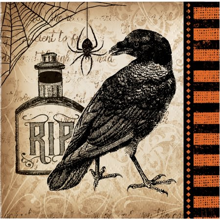 Spooky Symbols Halloween Beverage Napkins, 16 pack