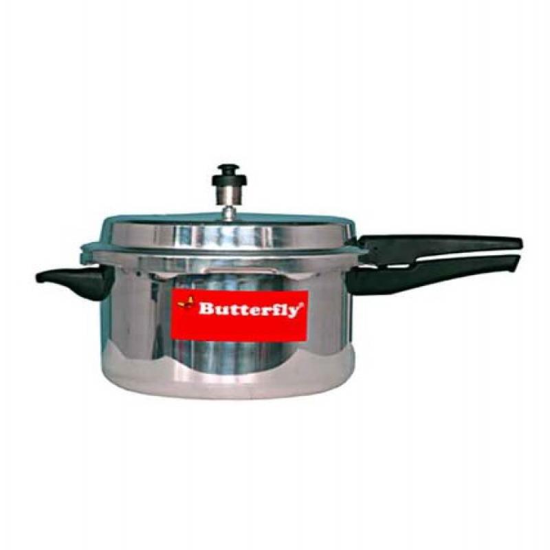 Butterfly SP-SP Standard Plus Aluminum Senior Pan Pressure Cooker 5.5-Liter