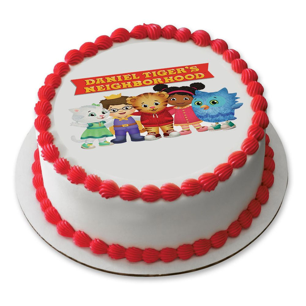 Daniel Tiger Neighborhood Friends 75 Round Edible Cake Topper