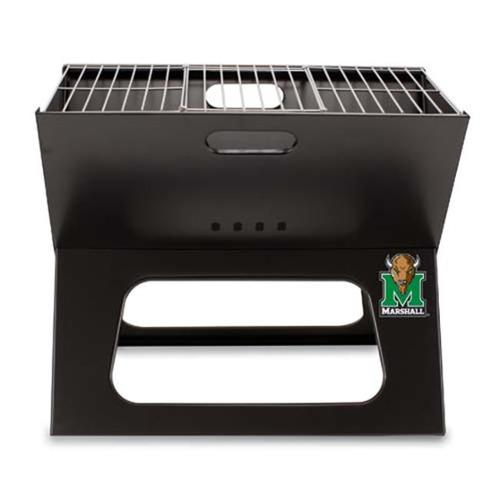 Picnic Time PT-775-00-175-894-0 Marshall Thundering Herd X-Grill in Black