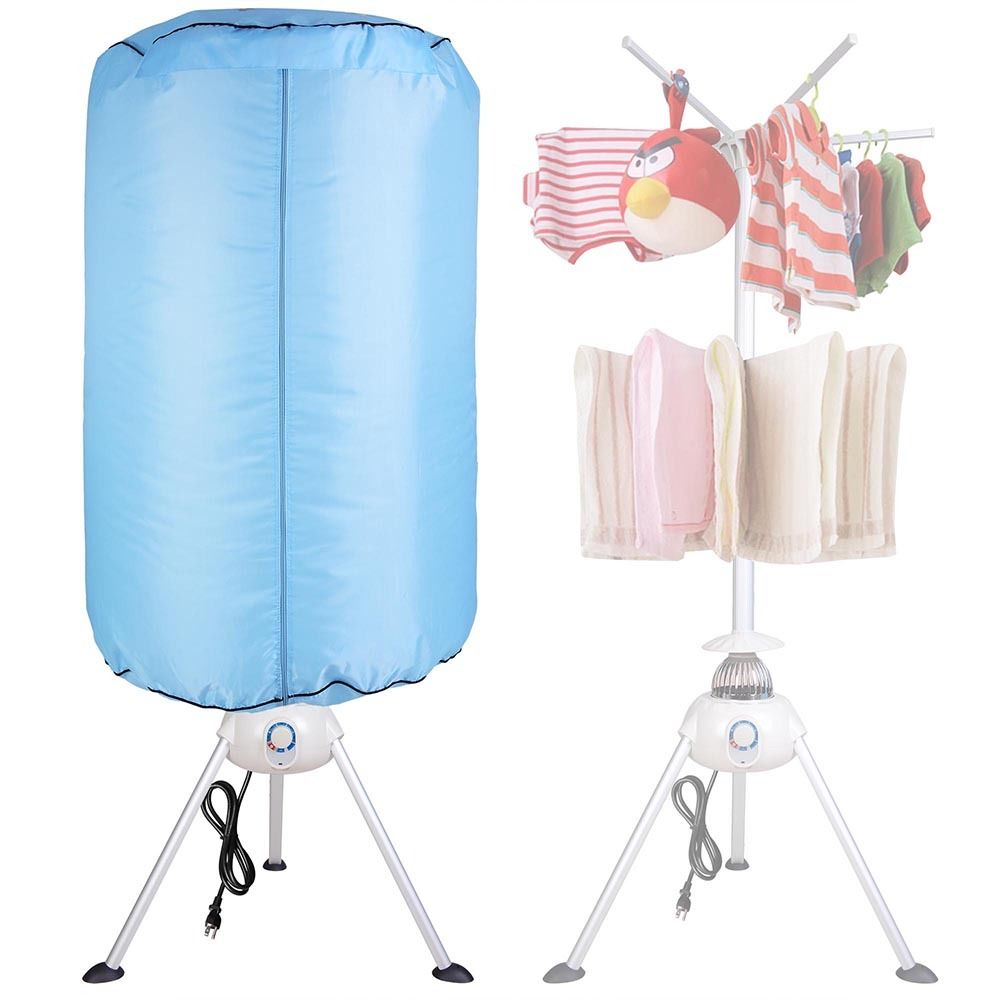 """GHP 28-3/10""""x59"""" Cylinder Blue Portable 1000W 120V Heater Electric Clothing Dryer"""