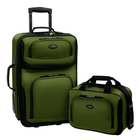 df6bdba5424 U.S. Traveler Rio 2-Piece Carry-On Luggage Set