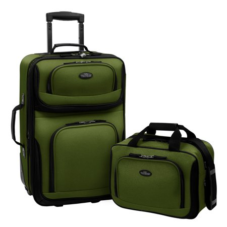 U.S. Traveler Rio 2-Piece Carry-On Luggage (22 Wheeled Bag)