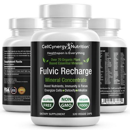 Fulvic Trace Minerals 120ct. Veggie Capsules