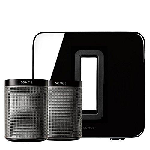 Sonos PLAY:1 (Black, Pair) Multi-Room Digital Music System Bundle & Sonos Wireless...