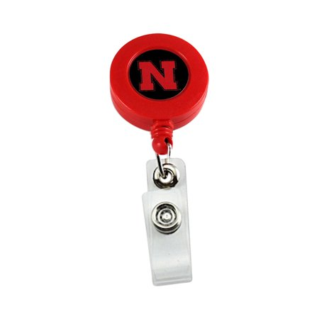 Nebraska Cornhuskers Sports Team Logo Retractable Badge Reel Id Ticket Clip -