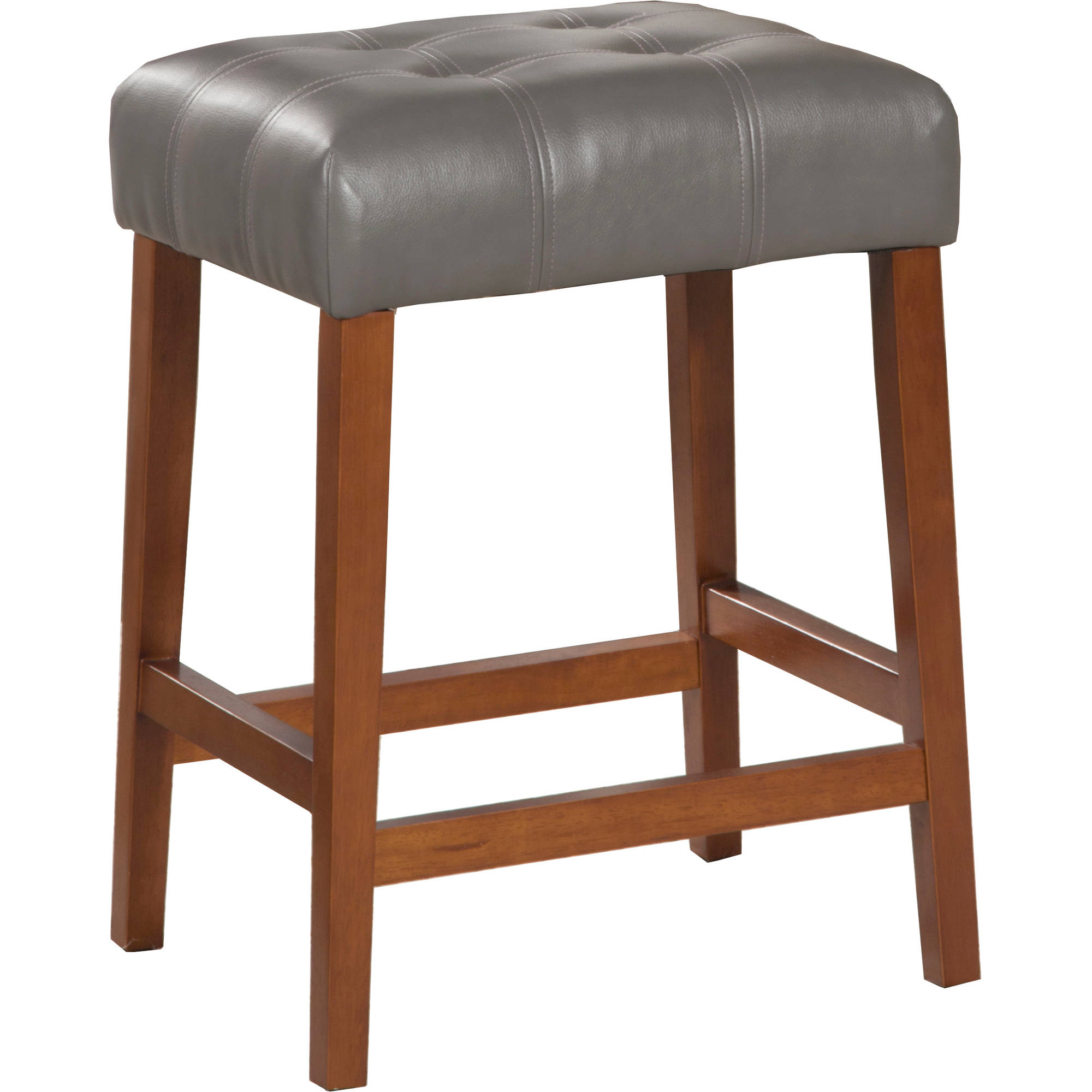 "HomePop 24"" Square Counter Stool, Multiple Colors"