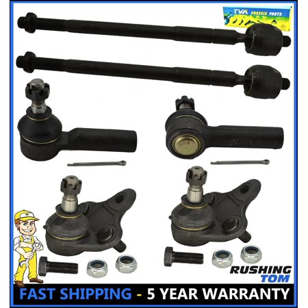 6Pc Kit Front Inner Outer Tie Rod Lower Ball Joint for Toyota Corolla Geo Prizm