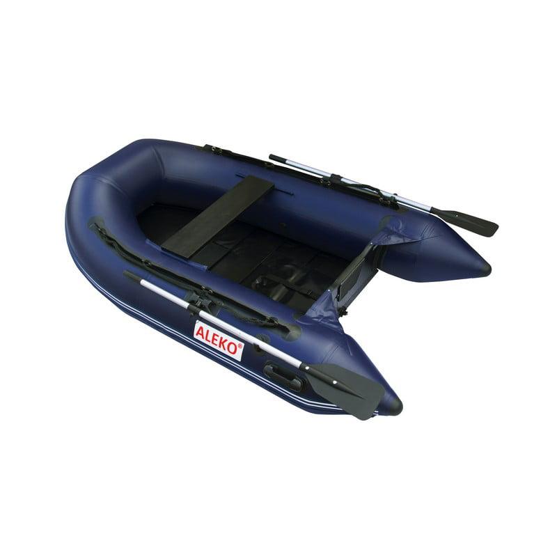 ALEKO Inflatable Boat with Pre-Installed Slide Floor - 8.4 ft - Blue