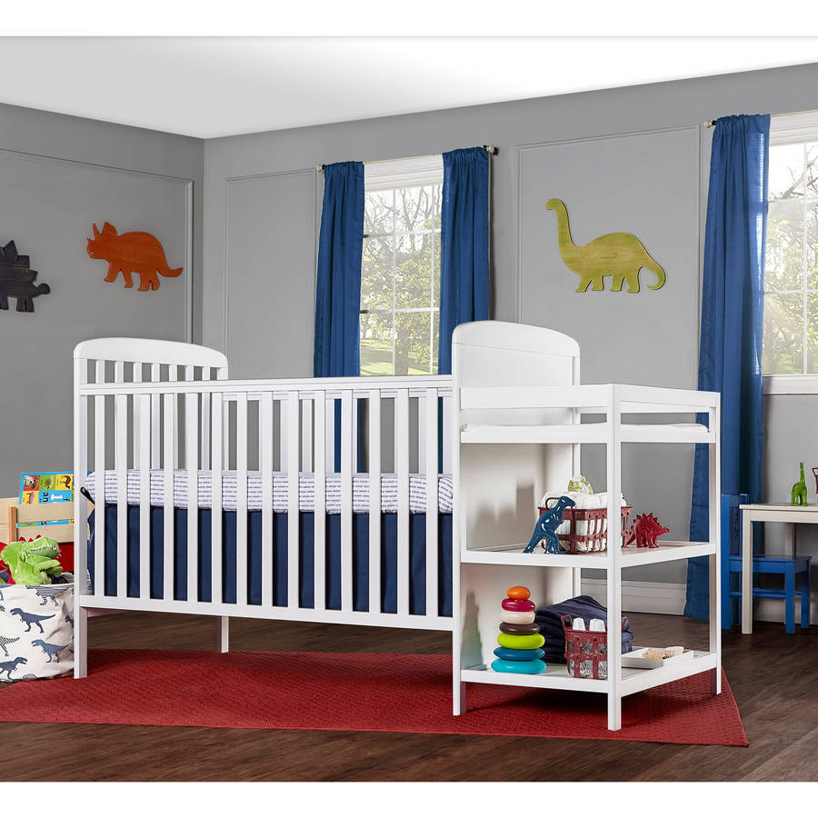 Dream On Me Anna 2-in-1 Full Size Crib and Changing Table Combo, Choose Your Finish