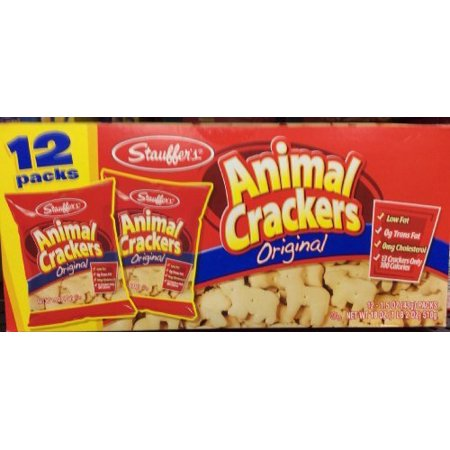 (2 Pack) Stauffer's Original Animal Crackers, 1.5 oz, 12