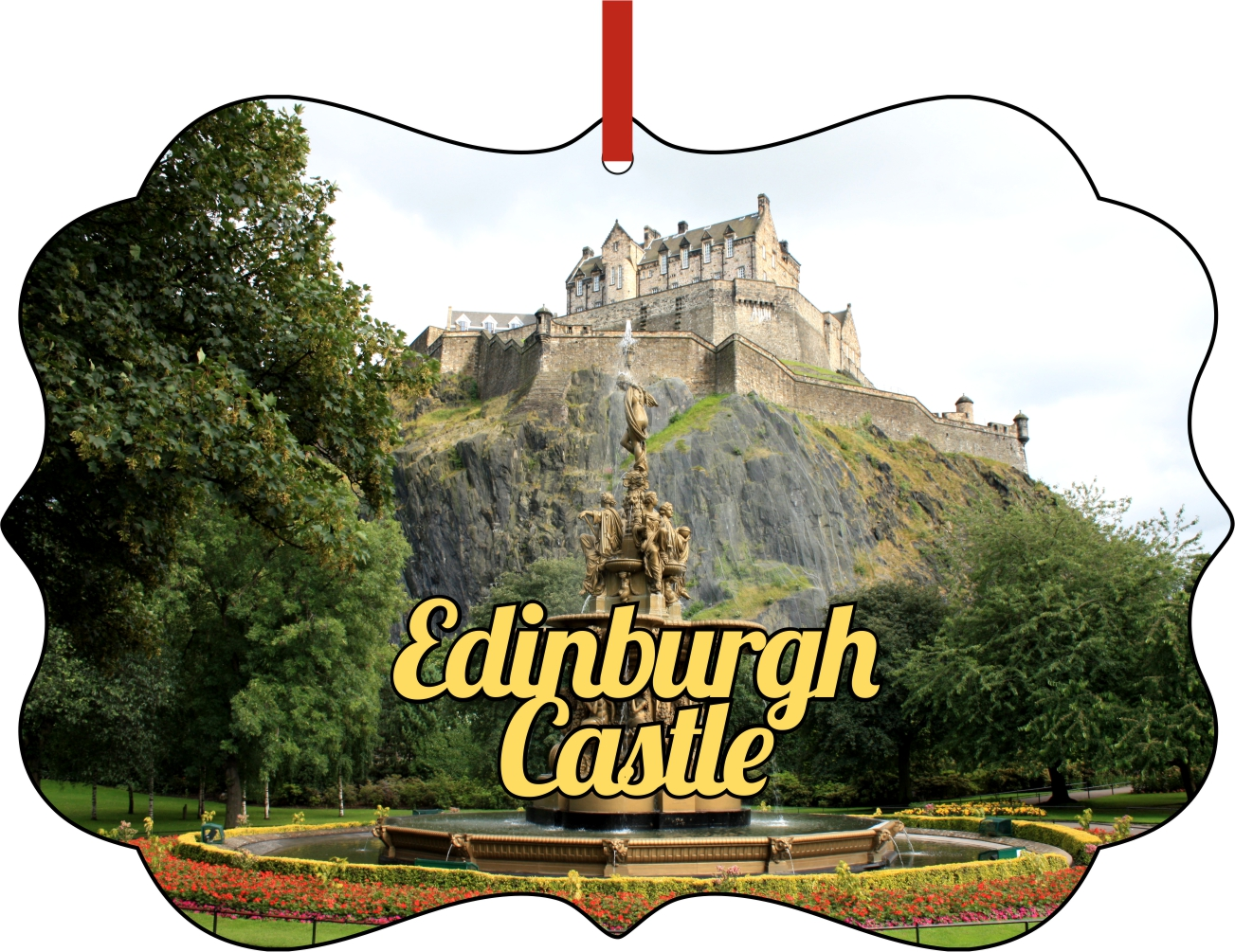 Christmas Ornaments Travel UK Scotland Edinburgh Castle ...
