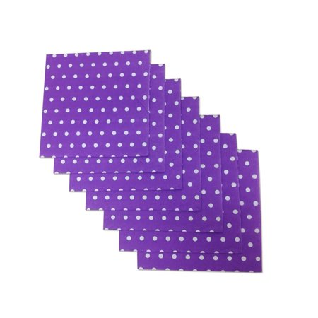 Purple and White Polka Dot Party Napkins, 20 Count, 6.5