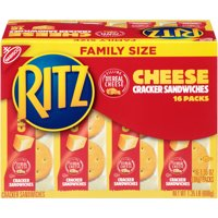 Nabisco Ritz Cheese Cracker Sandwiches Family Size, 1.35 Oz., 16 Count