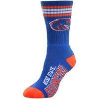 Boise State Broncos For Bare Feet Women's 4-Stripe Deuce Crew Socks
