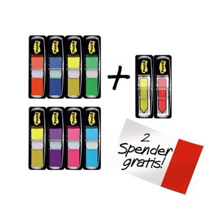 Post-it Flags Value Pack, Assorted Colors, .47 in. Wide, 35/Dispenser, 8 Dispensers/Pack Plus 48 Arrow (Adhesive Arrow Flags)